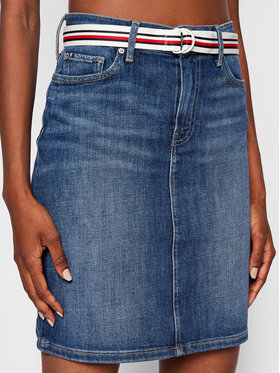 Tommy Hilfiger Tommy Hilfiger Spódnica jeansowa Rome WW0WW32974 Niebieski Regular Fit