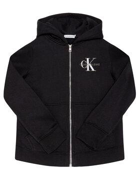 Calvin Klein Jeans Calvin Klein Jeans Pulóver Monogram Chest IG0IG00583 Fekete Regular Fit