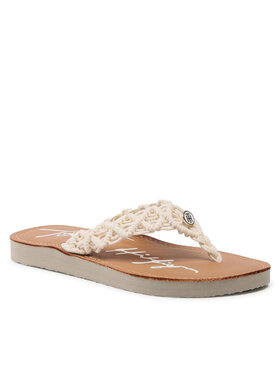 Tommy Hilfiger Tommy Hilfiger Japonki Th Faded LEather Footbed Sandal FW0FW05808 Beżowy