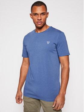 Guess Guess Marškinėliai U94M09 K6YW1 Mėlyna Regular Fit