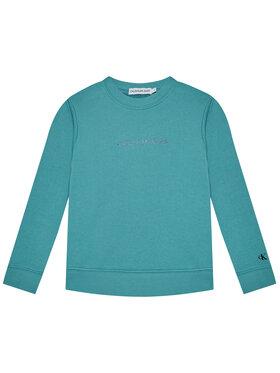 Calvin Klein Jeans Calvin Klein Jeans Bluza Metallic Chest Logo IG0IG00577 Niebieski Regular Fit