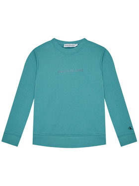 Calvin Klein Jeans Calvin Klein Jeans Džemperis Metallic Chest Logo IG0IG00577 Mėlyna Regular Fit