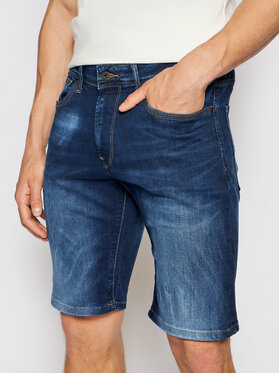 Pepe Jeans Pepe Jeans Short en jean Stanley PM800854 Bleu marine Taper Fit