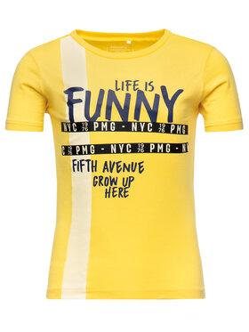 Primigi Primigi T-Shirt Big City Life 43222001 Żółty Regular Fit