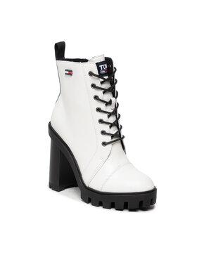 Tommy Jeans Tommy Jeans Botki Branded Tape High Heel Boot EN0EN01544 Biały