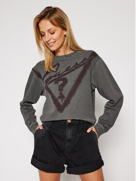 Guess Guess Bluza Graffiti Fleece W0BQ13 K68I0 Szary Regular Fit