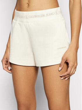 Calvin Klein Jeans Calvin Klein Jeans Szorty sportowe J20J215561 Beżowy Slim Fit