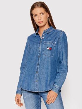 Tommy Jeans Tommy Jeans Koszula jeansowa Tjw Chambray Badge DW0DW10366 Niebieski Regular Fit