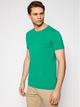 Tommy Hilfiger Tommy Hilfiger T-Shirt MW0MW10800 Grün Slim Fit