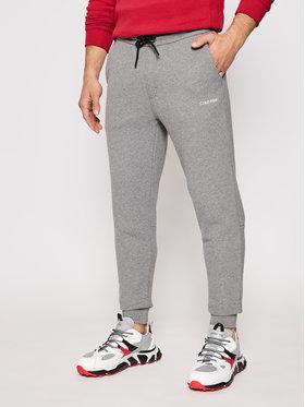 Calvin Klein Calvin Klein Spodnie dresowe Logo K10K107267 Szary Regular Fit