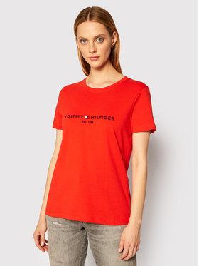 TOMMY HILFIGER TOMMY HILFIGER T-shirt C-Nk Reg WW0WW28681 Arancione Regular Fit