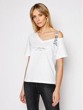 Guess Guess Tricou Anita W1GI90 I3Z11 Alb Regular Fit