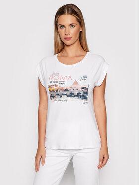 Liu Jo Liu Jo T-Shirt WF1139 J0166 Biały Regular Fit