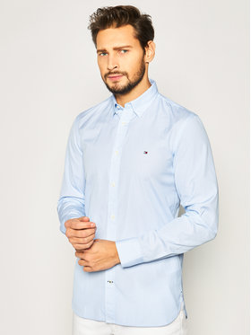 TOMMY HILFIGER TOMMY HILFIGER Košeľa Overhemd MW0MW12812 Modrá Slim Fit