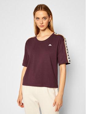 Kappa Kappa T-Shirt Hedda 308001 Fioletowy Regular Fit