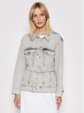 Calvin Klein Jeans Calvin Klein Jeans Kurtka jeansowa J20J215389 Szary Oversize