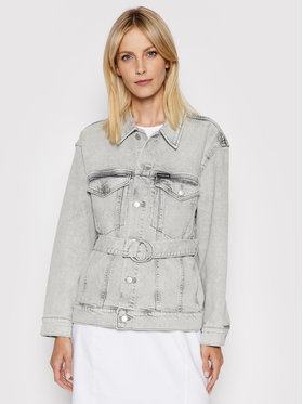 Calvin Klein Jeans Calvin Klein Jeans Traper jakna J20J215389 Siva Oversize
