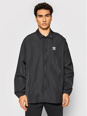 adidas adidas Átmeneti kabát adicolor Classics Trefoil H09129 Fekete Loose Fit