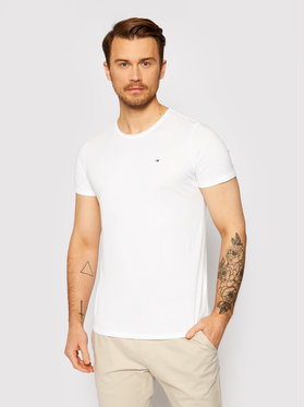 Tommy Jeans Tommy Jeans T-Shirt Jaspe Λευκό Slim Fit
