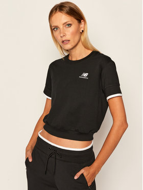 New Balance New Balance T-Shirt WT03506 Czarny Relaxed Fit