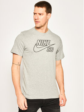 Nike Nike T-Shirt Skate Logo CD2109 Γκρι Standard Fit