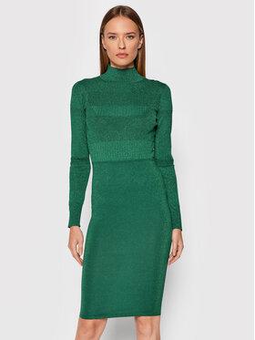 Pinko Pinko Плетена рокля Malvasia AI2122 BLK01 1G16CT Y7GG Зелен Slim Fit
