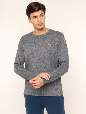 Tommy Jeans Tommy Jeans Πουλόβερ Essential Textured Sweater DM0DM06999 Γκρι Regular Fit