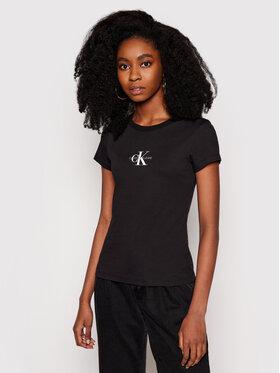 Calvin Klein Jeans Calvin Klein Jeans Tričko J20J216577 Čierna Slim Fit