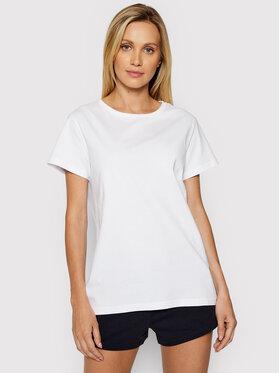 4F 4F Marškinėliai H4L21-TSD020 Balta Regular Fit