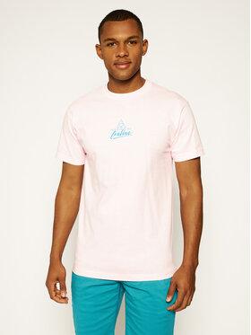 HUF HUF T-shirt Forbidden Domain TS01051 Rosa Regular Fit