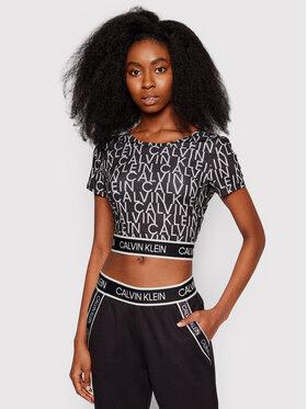 Calvin Klein Performance Calvin Klein Performance Блуза Wo Aop Crop 00GWS1K145 Черен Cropped Fit