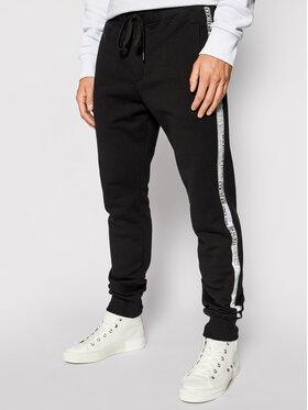 Versace Jeans Couture Versace Jeans Couture Teplákové kalhoty Tape Logo 71GAA3B7 Černá Regular Fit