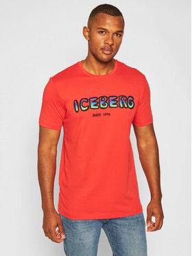 Iceberg Iceberg T-Shirt 20II1P0F0206301 Czerwony Regular Fit