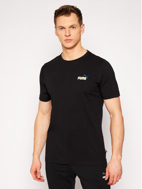 Puma Puma T-Shirt Embroldery Logo Tee 587184 Μαύρο Regular Fit