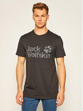 Jack Wolfskin Jack Wolfskin Tričko Brand Logo T 1807261 Sivá Regular Fit