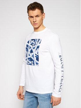 Armani Exchange Armani Exchange Marškinėliai ilgomis rankovėmis 3KZTFN ZJH4Z 1100 Balta Regular Fit