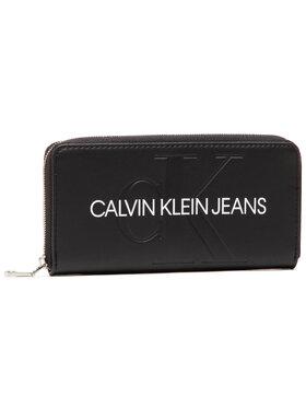 Calvin Klein Jeans Calvin Klein Jeans Veľká dámska peňaženka Zip Around K60K607634 Čierna