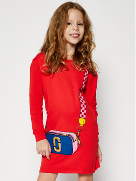 Little Marc Jacobs Little Marc Jacobs Každodenné šaty W12333 S Červená Regular Fit