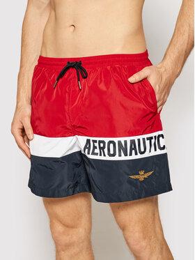 Aeronautica Militare Aeronautica Militare Plavecké šortky 211BW198CT1537 Červená Regular Fit