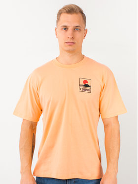 Edwin Edwin T-Shirt Sunset On Mt Fuji Ts I025881 TG372M4 CTP67 Pomarańczowy Regular Fit