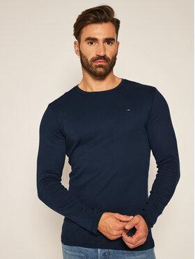 Tommy Jeans Tommy Jeans Marškinėliai ilgomis rankovėmis DM0DM04409 Tamsiai mėlyna Slim Fit