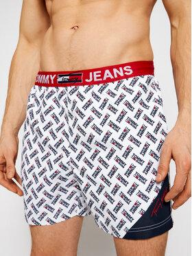 Tommy Jeans Tommy Jeans Σορτς κολύμβησης Sf Medium Drawstring-Print Λευκό Regular Fit