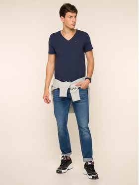 Tommy Jeans Tommy Jeans T-Shirt DM0DM04410 Granatowy Regular Fit