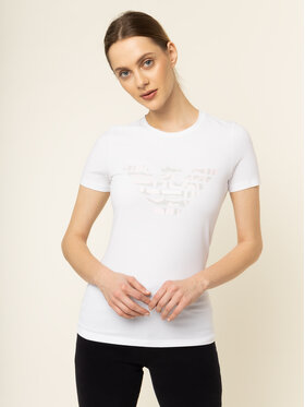 Emporio Armani Emporio Armani T-Shirt 3H2T8A 2J07Z 0100 Bílá Regular Fit
