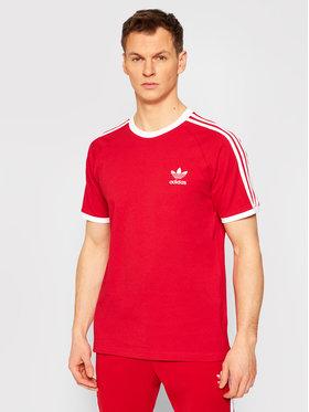 adidas adidas T-Shirt adicolor Classics 3-Stripes Tee GN3502 Czerwony Slim Fit