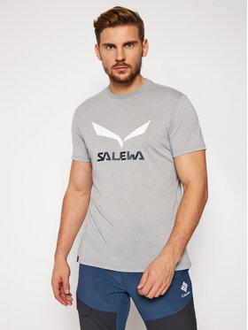 Salewa Salewa Tričko Solidlogo Dry 27018 Sivá Regular Fit