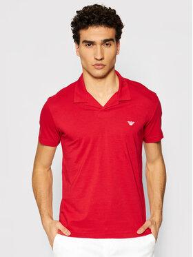 Emporio Armani Emporio Armani Тениска с яка и копчета 211837 1P472 06574 Червен Regular Fit