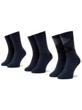 QUAZI QUAZI Set di 3 paia di calzini lunghi da donna QZ-SOCKS-65-04-WOMAN-002 Blu scuro