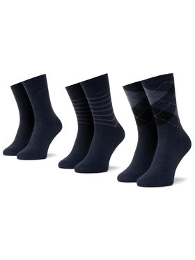 QUAZI QUAZI Set od 5 pari ženskih visokih čarapa QZ-SOCKS-65-04-WOMAN-002 Tamnoplava