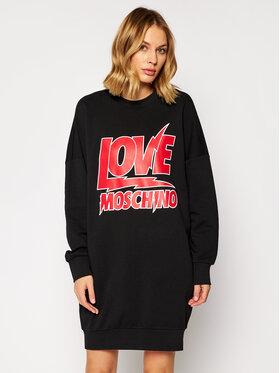 LOVE MOSCHINO LOVE MOSCHINO Kötött ruha W5A4805M 4055 Fekete Regular Fit